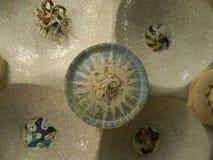 Flerfärgad glass mosaiktegelplatta Royaltyfria Bilder