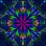 Flerfärgad härlig fractal i stil för målat glassfönster. Komp Royaltyfria Bilder