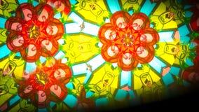 Flerfärgad härlig modell Ljus färgtextur för abstrakt målning Kaleidoskope bakgrund Royaltyfri Foto