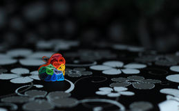 Flerfärgad hjärta Arkivbilder