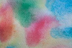 Flerfärgad målad bakgrund för vattenfärg hand Abstrakt akryltextur och bakgrund för formgivare Royaltyfria Foton
