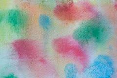 Flerfärgad målad bakgrund för vattenfärg hand Abstrakt akryltextur och bakgrund för formgivare Fotografering för Bildbyråer