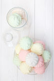 Flerfärgad marshmallow Royaltyfria Foton