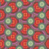 Flerfärgad modell för sömlös abstrakt mandala Arkivbild