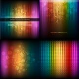 Flerfärgad musikalisk utjämnareuppsättning stock illustrationer