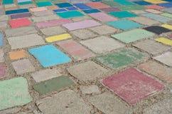 Flerfärgad och härlig betongjordning Royaltyfria Bilder