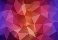 Flerfärgad Polygonal mosaikpappersbakgrund Vektor Illustrationer