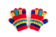 Flerfärgade handskar för barn` s Royaltyfria Foton