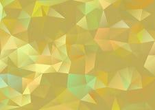 Flerfärgade kubismbakgrundsguld och gräns Arkivfoton