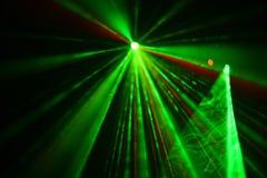 Flerfärgade laserstrålar Royaltyfria Bilder