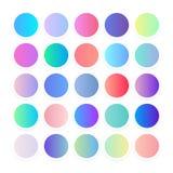 Flerfärgade lutningar, mjuk färgbakgrund Modern skärmvektordesign för mobil app och webbplats slapp färg vektor illustrationer