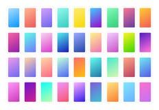 Flerfärgade lutningar, mjuk färgbakgrund Modern skärmvektordesign för mobil app och webbplats slapp färg royaltyfri illustrationer