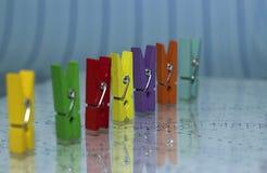 Flerfärgade pinnor Royaltyfri Foto