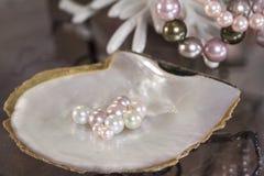 Flerfärgat av pärlor royaltyfria foton