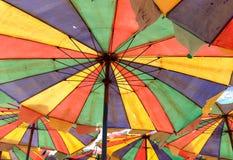 Flerfärgat paraply Royaltyfria Bilder