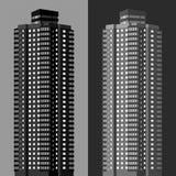 2 flerfamiljshus stock illustrationer