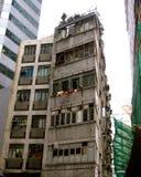 Flerfamiljshus Hong Kong Royaltyfri Bild