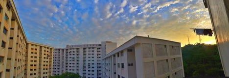 Flerfamiljshus - Singapore Arkivbilder