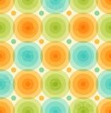 Flerfärgad bakgrundsmodell för vektor med den geometriska färgrika mallen för glansiga cirklar för tapeter, räkningar Royaltyfri Bild