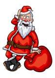 Flertar de Santa Claus ilustração do vetor