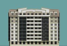 Flervånings- byggnad 2 Arkivfoton