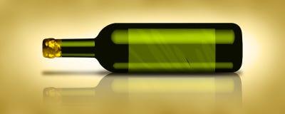 Fles 1 van de wijn Stock Afbeeldingen