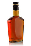 Fles alcoholische drank stock foto's