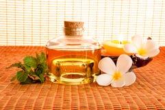 Fles aromatische essentieolie Royalty-vrije Stock Fotografie