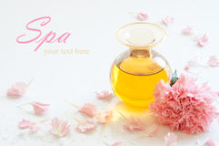 Fles aromatische essentieolie Royalty-vrije Stock Afbeelding