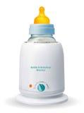 Fles & Babyvoedingsverwarmingstoestel Royalty-vrije Stock Foto's