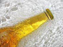 Fles bier royalty-vrije stock afbeeldingen