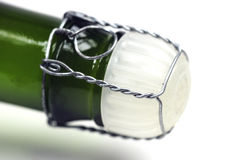 Fles champagne Stock Afbeelding