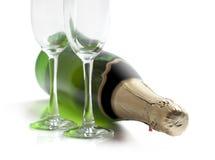 Fles champagne Royalty-vrije Stock Foto's