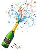 Fles champagne Royalty-vrije Stock Fotografie