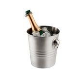 Fles champagne royalty-vrije stock afbeeldingen