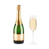 Fles champagne stock foto