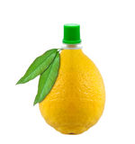 Fles citroensap Stock Afbeeldingen