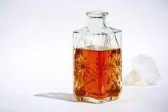 Fles cognac stock foto's