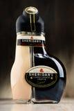 Fles de likeur van Sheridan Stock Foto's