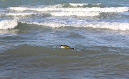 fles in de oceaan met een bericht royalty-vrije stock foto