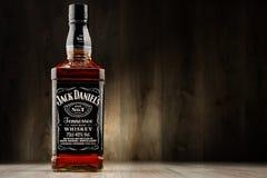 Fles de whisky van Jack Daniel Stock Foto's