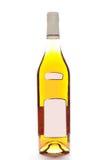 Fles die op wit wordt geïsoleerd royalty-vrije stock afbeeldingen