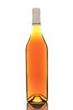 Fles die op wit wordt geïsoleerde royalty-vrije stock foto's