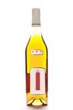 Fles die op wit wordt geïsoleerde stock afbeeldingen