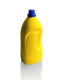 Fles dishwashing vloeistof op wit wordt geïsoleerd dat Royalty-vrije Stock Fotografie