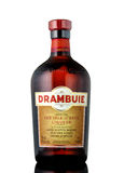 Fles Drambuie, zoete, gouden gekleurde 40% ABV Li van Schotland ` s Stock Foto