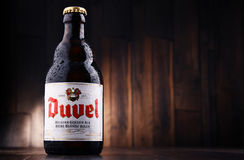 Fles Duvel-bier Stock Foto's