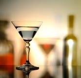 Fles en glas Royalty-vrije Stock Afbeeldingen