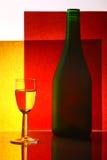 Fles en glas Royalty-vrije Stock Afbeelding