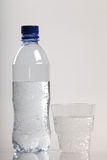 Fles en glas stock afbeelding